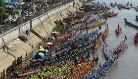 The annual Water Festival on the Tonle Sap river in Phnom Penh, Cambodia