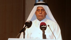 HE Abdullah bin Hamad al-Attiyah addressing the event