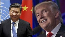 Chinese President Xi Jinping and US president-elect Donald Trump