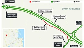 Dukhan South Service Road traffic diversion