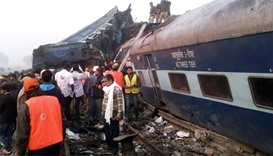 119 killed as train derails in northern India