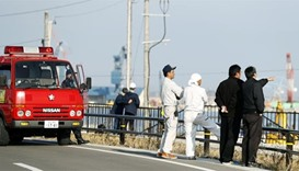 Tsunami hits Japan after strong quake near Fukushima site