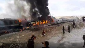 At least eight killed, 50 wounded in Iran train crash