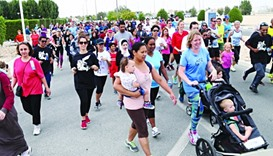 Hundreds of participants took part in the 13th Terry Fox Run at CNAQ campus. PICTURE: Jayan Orma