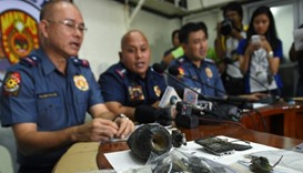 Philippine police chief Director-General Ronald Dela Rosa talks about the improvised explosive devic