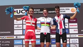 Men's junior individual time trial event, UCI Road World Championships Doha 2016