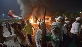 Rally turns violent in Jakarta as hardliners attack police