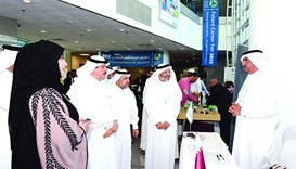 HMC officials visiting one of the stalls at the event
