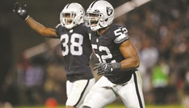 Raiders bust Broncos 30-20 to seize lead