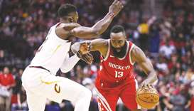 Harden triple-double helps Rockets beat Cavaliers 117-113