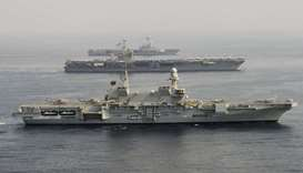 Three US aircraft carriers