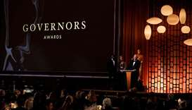Actor Donald Sutherland accepts the Governors Award