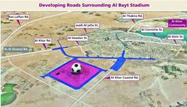 QR354mn project to upgrade Al-Bayt Stadium link roads kicks off