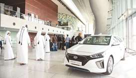 Hyundai Ioniq model showcased at Qatar Sustainability Week