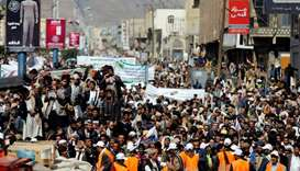 Thousands protest in Yemen against Saudi-led blockade