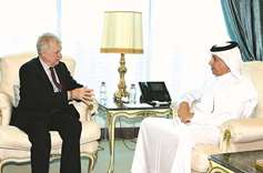 Minister, envoy review Syrian situation