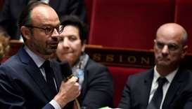 French Prime Minister Edouard Philippe speaks during a session of questions to the government at the