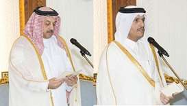 Deputy prime ministers take oath before Emir