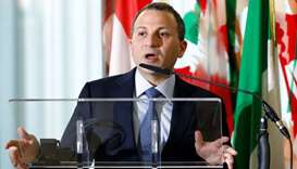Lebanese Foreign Minister Gebran Bassil speaks during a meeting with Italian counterpart Angelino Al