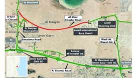 Diversion on Al Khor's Coastal Road for 18 months