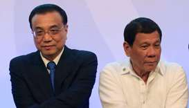 Chinese Premier Li Keqiang with Philippine President Rodrigo Duterte