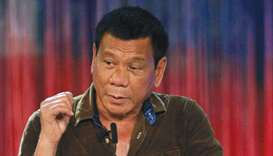 Duterte: tough talk