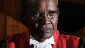 Kenyan Chief Justice David Maraga looks on as the Kenya's Supreme Court dismissed two petitions to o