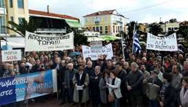 Greek island on strike in protest against becoming migrant 'prison'