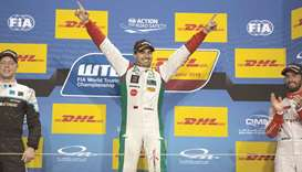WTCC Trophy winner Mehdi Bennani of Morocco.