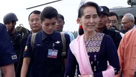 Myanmar's Suu Kyi 'urges people not to quarrel' on visit to Rakhine