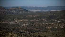 A general view shows drought-stricken Albanchez de Magina near Jaen