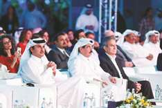 Emir attends Al Jazeera celebration