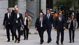 Judge orders eight members of deposed Catalan govt detained