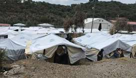 Asylum seekers stranded on Greek island