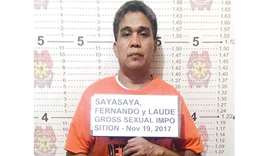 This undated handout photo released yesterday shows Fernando Sayasaya, 53, in  Calamba, Laguna, sout