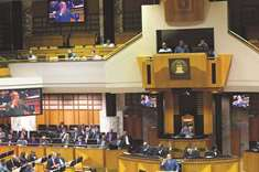 Opposition MPs walk out of parliament in S Africa