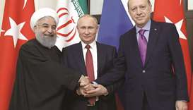Putin wins backing from Iran and Turkey for new Syria peace push