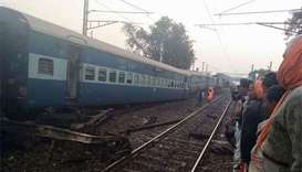 Three killed after express train derails in northern India