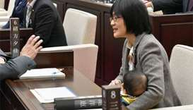 Baby banned from Japanese municipal assembly