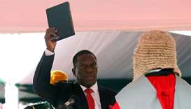Mnangagwa sworn in as Zimbabwe president