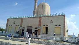View of the Rawda mosque, roughly 40 kilometres west of the North Sinai capital of El-Arish, after a