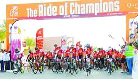 The Ride of Champions 2017, held on Friday at QF's Education City, had seen more than 1,000 cycling