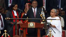 Kenya president sworn in, rival Odinga promises own inauguration