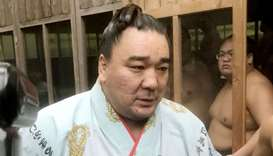 Mongolian-born yokozuna, or grand champion, Harumafuji