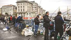 Istanbul anglers keep up tradition despite fewer fish