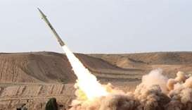 A Houthi missile being fired. File picture