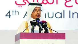 HE Sheikh Abdullah addressing the QCB conference