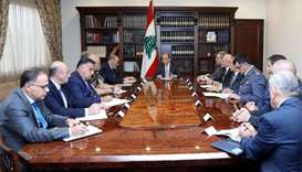 Lebanon president says stability is 'red line' after PM quit