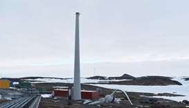 Wind turbine breaks apart at Australian Antarctic base