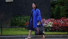 Priti Patel arriving to attend the weekly meeting of the cabinet at Downing Street in central London